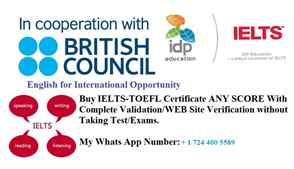 IELTS PTE TOEFL certificate ENGLISH  LANGUAGE PROCESSORS