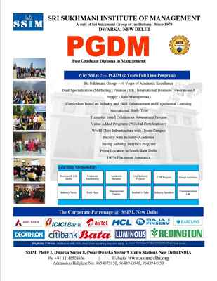 pgdm with International Study Tour Industry based Value Added Programs and Strong Industry