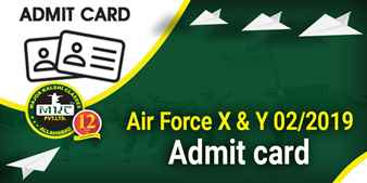 How to Download Air Force X and Y 02 2019 Admit Card